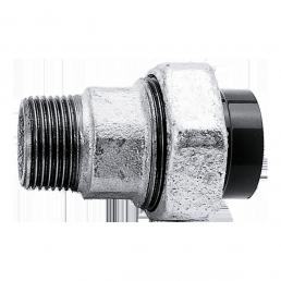 Temperguß (GTW) Verschraubung mit einseitig kegligem Aussengewinde und anderseitiger Klebemuffe